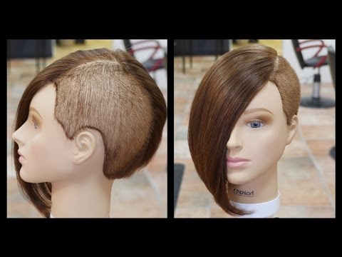 Extreme Women's Haircut – Thesalonguy – Youtube With Regard To Angled Undercut Hairstyles (View 16 of 25)