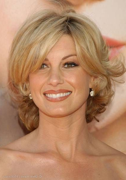 Faith Hill In Playful Simply Styled Cute Blonde Hair With Body intended for Playful Blonde Curls Hairstyles