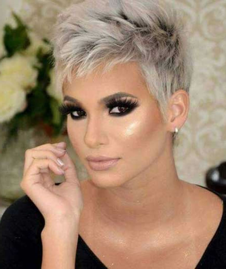 Gray Hair Colors For Short Hair – Pixie And Bob Hairstyles – Page 2 Throughout Spiky Gray Pixie Haircuts (Gallery 23 of 25)
