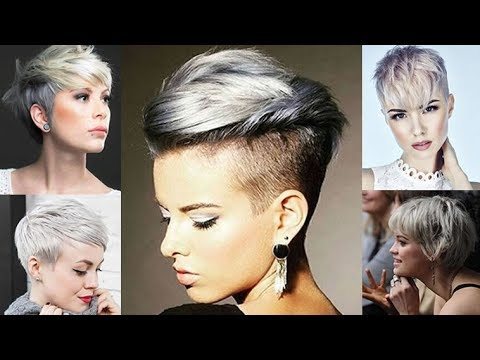 Grey Pixie Hair Cut & Gray Hair Colors For Short Pixie Hairstyles inside Spiky Gray Pixie Haircuts