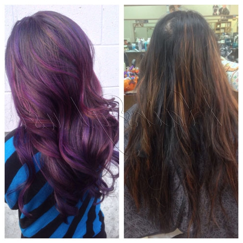 Hair Color How To: Purple Hazemaggie Ly   Beauty Launchpad For Purple Haze Hairstyles (View 8 of 25)