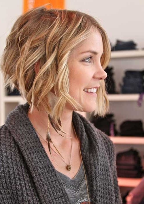 Hairstyles : Inverted Bob Hairstyles For Short Wavy Hair Inverted Inside Short Wavy Inverted Bob Hairstyles (View 9 of 25)