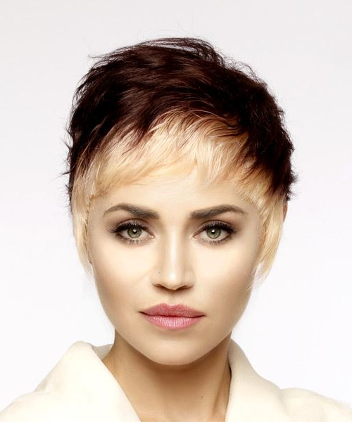 Highlights For Short Hair With Two Tone Spiky Short Haircuts (View 22 of 25)