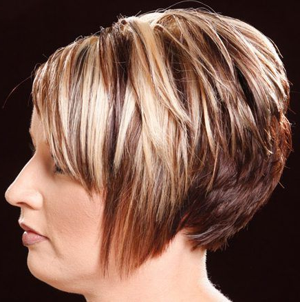 Image Result For Highlights And Lowlights For Short Brown Hair Regarding Short Ruffled Hairstyles With Blonde Highlights (View 4 of 25)