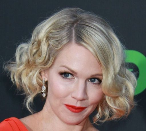 Jennie Garth Short Curly Bob - Party, Formal, Awards, Evening intended for Playful Blonde Curls Hairstyles