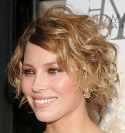 Jessica Biel Curly Wedge Hairstyle – Party, Formal – Careforhair.co (View 22 of 25)
