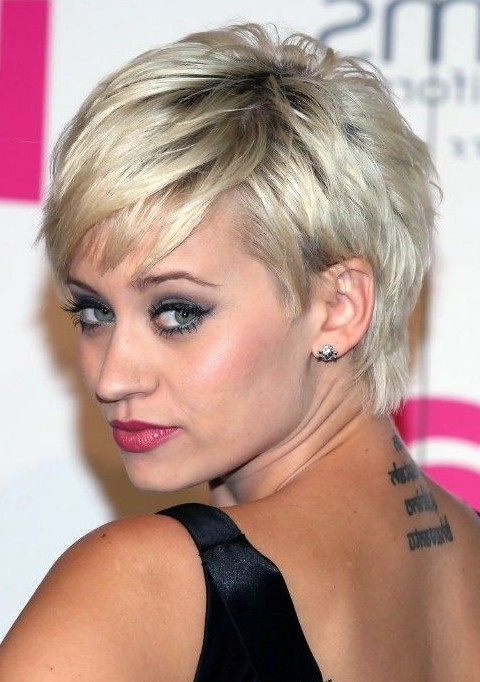 Kimberly Wyatt Short Hairstyles: Layered Pixie Haircut – Popular Intended For Layered Pixie Hairstyles With Textured Bangs (View 25 of 25)