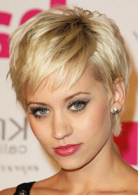 Layered Pixie Haircut, Sexy Short Hairstyles For Women – Popular For Layered Pixie Hairstyles With Textured Bangs (View 17 of 25)