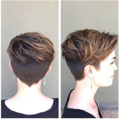 Layered, Pixie Haircut With Thick Hair – Women Short Hairstyle Ideas Regarding Gray Pixie Hairstyles For Thick Hair (View 5 of 25)