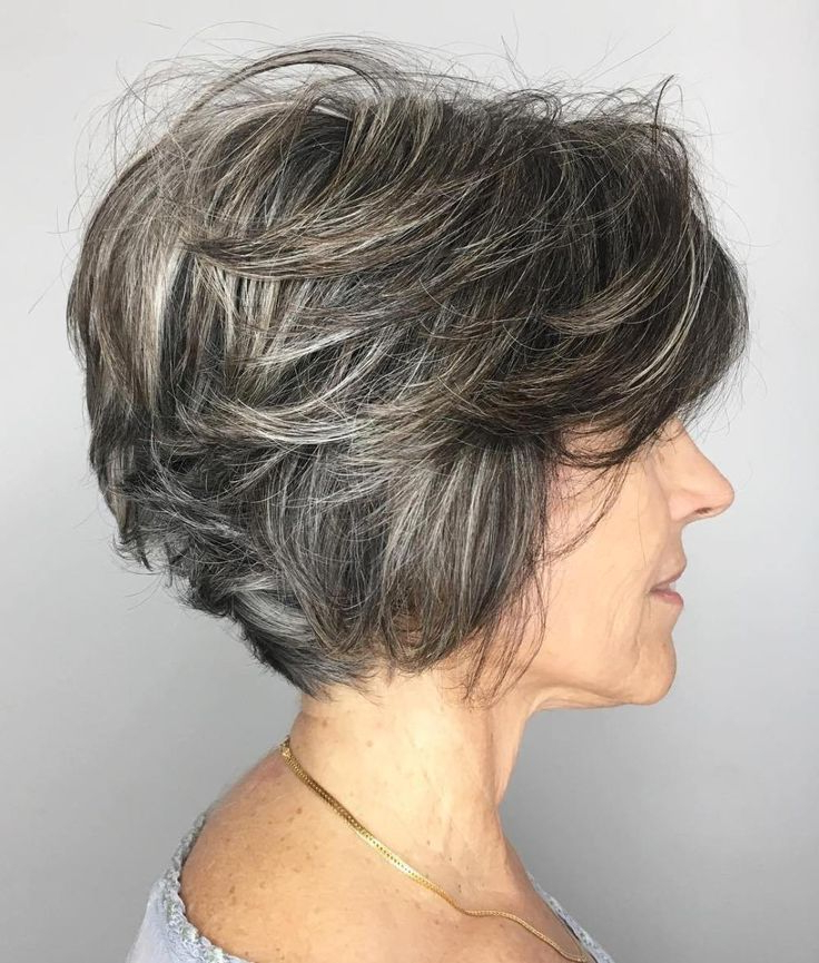 Featured Photo of Layered Tousled Salt And Pepper Bob Hairstyles
