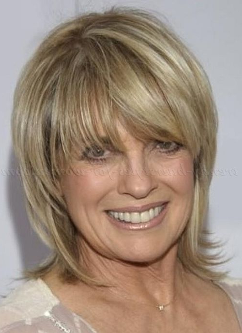 Linda Gray Hairstyle Short Layered Straight Human Hair Wigs For Pertaining To Mature Short Layered Haircuts (View 9 of 25)