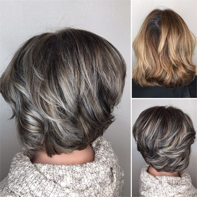 Makeover: Gray Blending + Asymmetrical Bob – Hair Color In 2018 In Gray Hairstyles With High Layers (View 3 of 25)