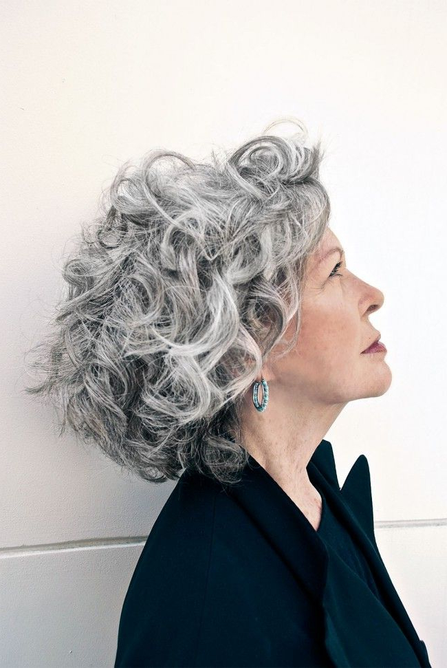 Marco Candela Michelus On Curly Gray Hair Texture: The Secret To For Long Curly Salt And Pepper Pixie Hairstyles (View 5 of 25)