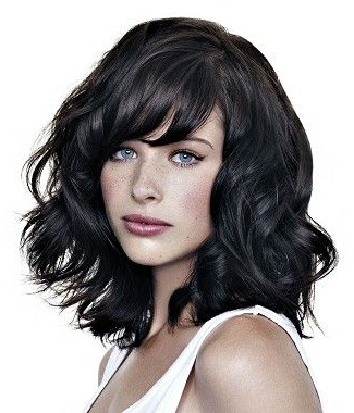 Medium Black Wavy Shaggy Coloured Volume Choppy Hairstyles For Women With Volume And Shagginess Hairstyles (View 12 of 25)