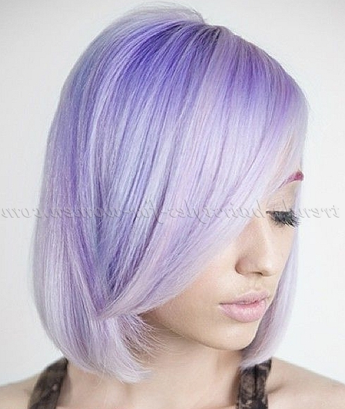Medium Length Hairstyles For Straight Hair – Shoulder Length Bob In Lavender Hairstyles For Women Over (View 13 of 25)