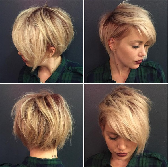 Messy, Blonde Pixie Hairstyle – Best Short Haircuts – Popular Haircuts Within Messy Pixie Bob Hairstyles (View 14 of 25)