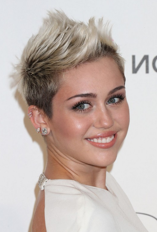 Miley Cyrus Hairstyles – Celebrity Latest Hairstyles 2016 Intended For Two Tone Spiky Short Haircuts (View 15 of 25)