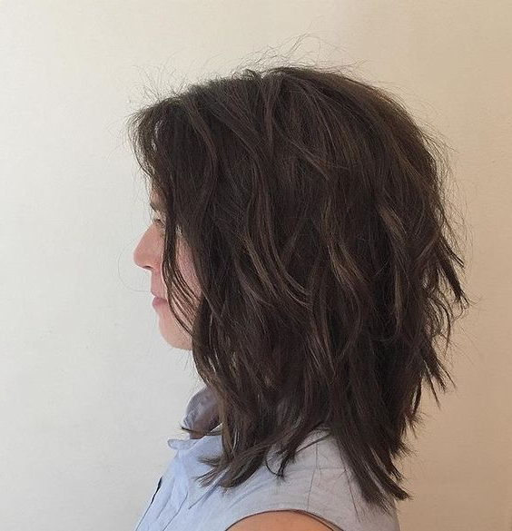 Picture Of A Very Shaggy Long Bob Brings Much Texture And Volume For Volume And Shagginess Hairstyles (View 22 of 25)