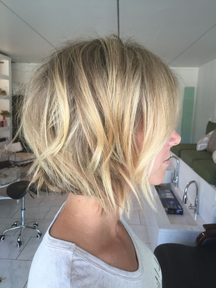 Pinjerri Spiel Shank On Bobs In 2018 | Pinterest | Hair, Hair In Blonde Balayage Bob Hairstyles With Angled Layers (View 23 of 25)