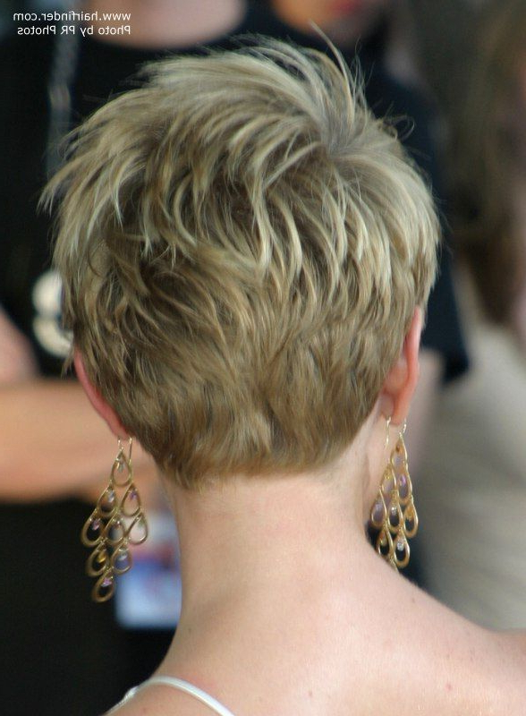 Pixie Haircut Rear View | Short Pixie Haircuts Back View Photo With Regard To Tapered Gray Pixie Hairstyles With Textured Crown (View 8 of 25)
