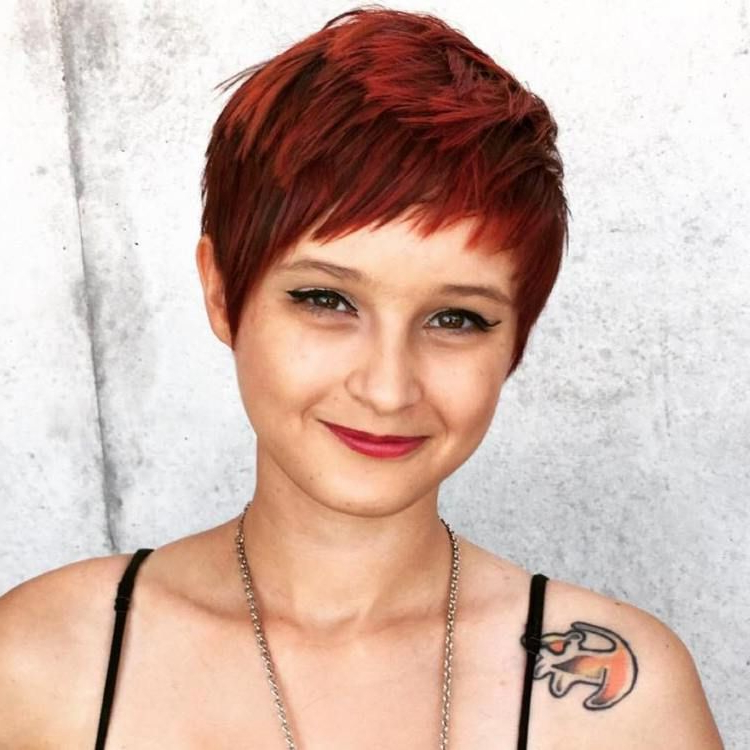 Pixie Haircuts With Bangs – 50 Terrific Tapers | Pinterest | Pixies For Black Choppy Pixie Hairstyles With Red Bangs (View 6 of 25)