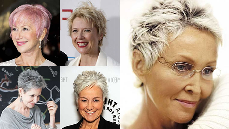 Pixie Short Haircuts For Older Women Over 50 & 2018 2019 Short Pertaining To Pixie Undercut Hairstyles For Women Over  (View 23 of 25)
