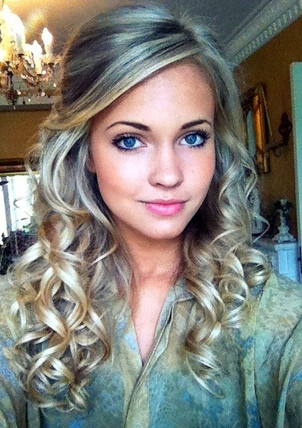 Playful & Sexy Curly Hair Styles   Hairstyles   Pinterest   Hair Regarding Playful Blonde Curls Hairstyles (View 10 of 25)