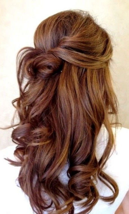 Romantic Soft Wavy Hairstyle For Wedding | Looks | Pinterest Pertaining To Soft Auburn Look Hairstyles (View 12 of 25)