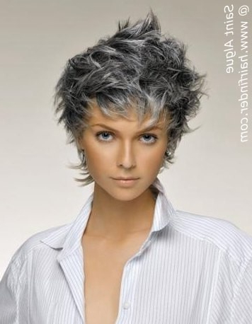 Salt And Pepper Hairstyles! Photos And Video Tutorials! – The Regarding Long Curly Salt And Pepper Pixie Hairstyles (View 8 of 25)