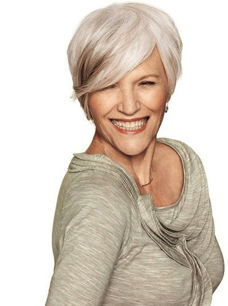 Salt & Pepper Stylish And Chic Short Hair For Mature Women (View 4 of 25)