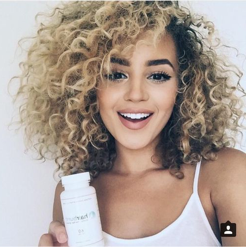 Short And Natural   Curls Curls Curls In 2018   Pinterest   Curly For Playful Blonde Curls Hairstyles (View 12 of 25)