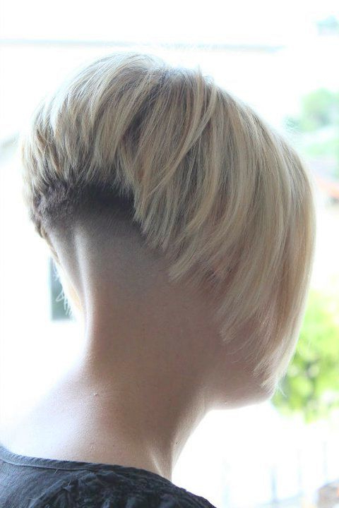 Short Bob With Shaved Nape   16403 Napes (3) – Heavy Weight Line Pertaining To Pixie Bob Hairstyles With Nape Undercut (View 14 of 25)