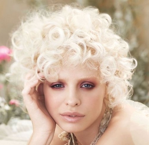 Short Curly Blonde Hairstyle – Casual, Party, Fall, Winter Within Playful Blonde Curls Hairstyles (View 5 of 25)