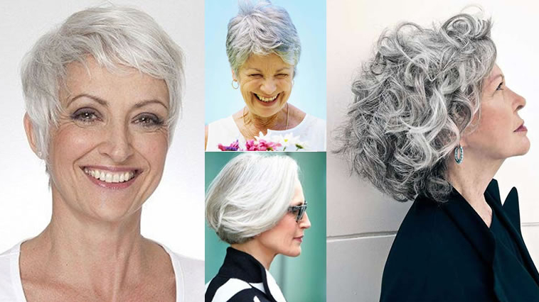 Short Gray Hairstyles For Older Women Over 50 – Gray Hair Colors Inside Long Curly Salt And Pepper Pixie Hairstyles (View 6 of 25)