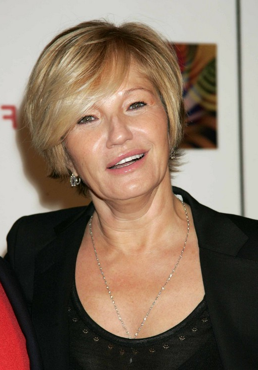 Short Haircut For Mature Women Over 50: Ellen Barkin's Short Pertaining To Mature Short Layered Haircuts (View 18 of 25)
