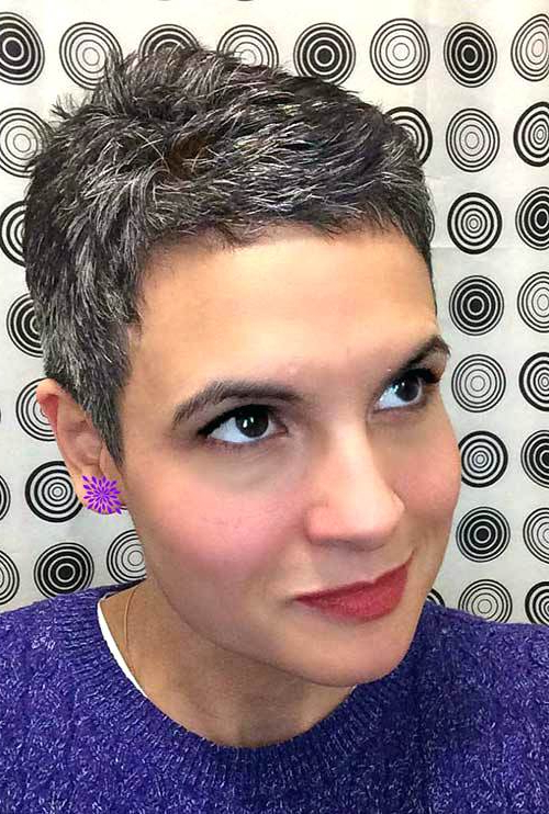 Short Haircuts For Gray Hair Short Haircuts For Women With Grey Hair With Regard To Spiky Gray Pixie Haircuts (View 16 of 25)