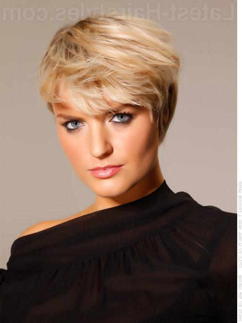 Short Hairstyles: Impressive Short Hairstyles For Seniors Sample Regarding Pure Blonde Shorter Hairstyles For Older Women (View 3 of 25)