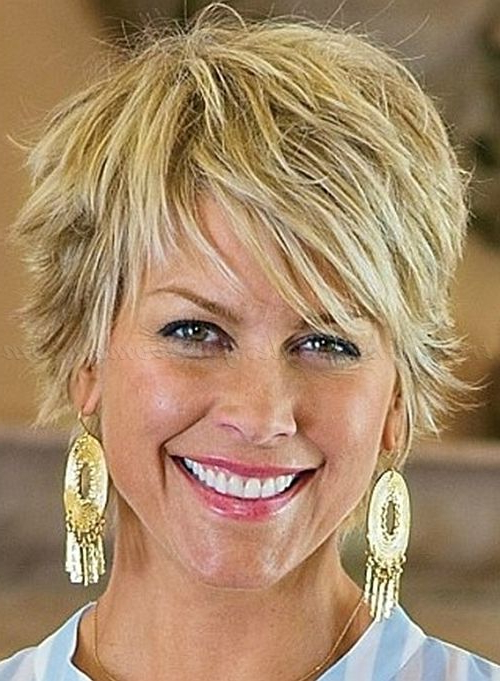 Short Hairstyles Over 50, Hairstyles Over 60 – Shaggy Hairstyle For For Blonde Pixie Haircuts For Women 50+ (View 4 of 25)