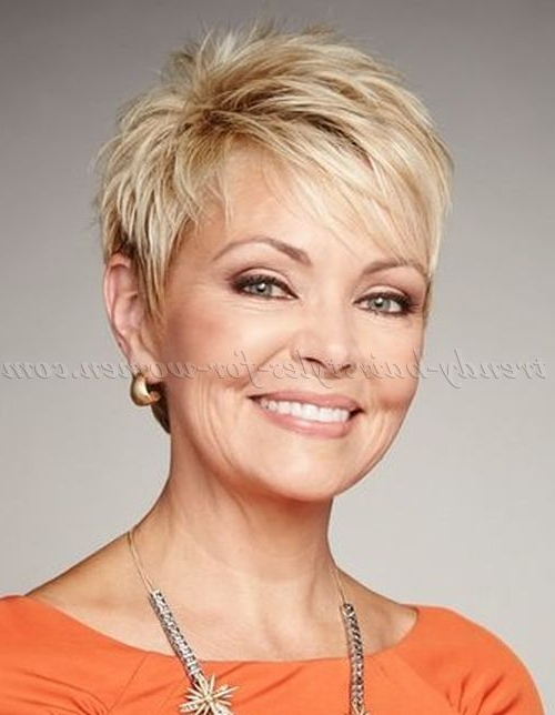 Featured Photo of Blonde Pixie Haircuts For Women 50+