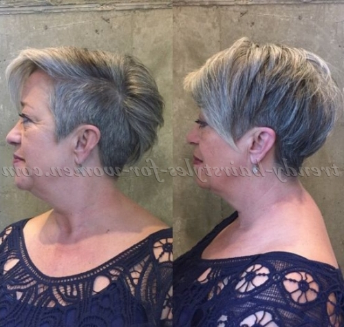 Short Hairstyles Over 50 – Undercut Pixie Over 50 | Trendy With Regard To Pixie Undercut Hairstyles For Women Over (View 5 of 25)