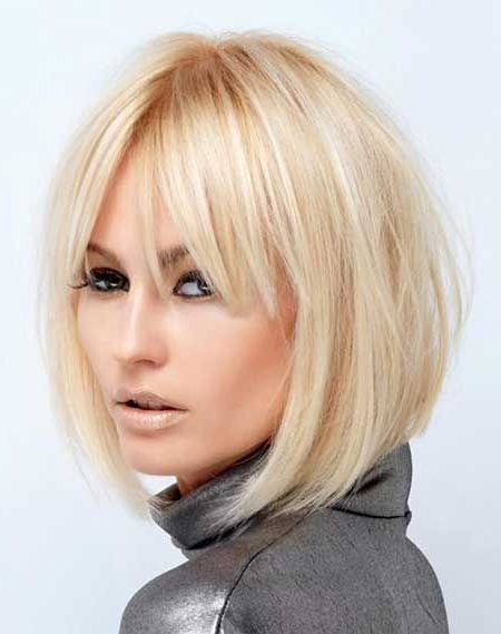 Short Hairstyles With Bangs | Hair In 2018 | Pinterest | Short Hair In Blonde Bob Hairstyles With Bangs (View 5 of 25)