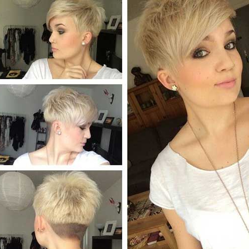 Short Layered Pixie Haircut With Undercut Pictures, Photos, And Pertaining To Edgy Pixie Bob Hairstyles (View 19 of 25)