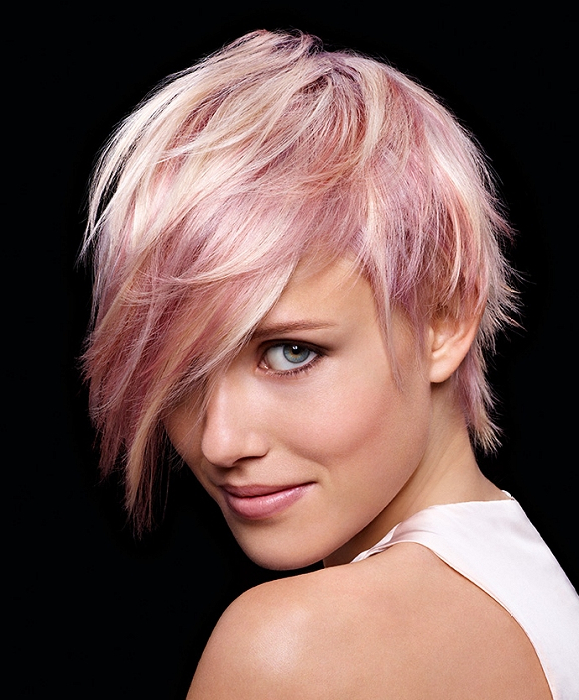 Short Pink Hairstyle Ideas – Hair World Magazine Intended For Pixie Bob Hairstyles With Blonde Babylights (View 17 of 25)