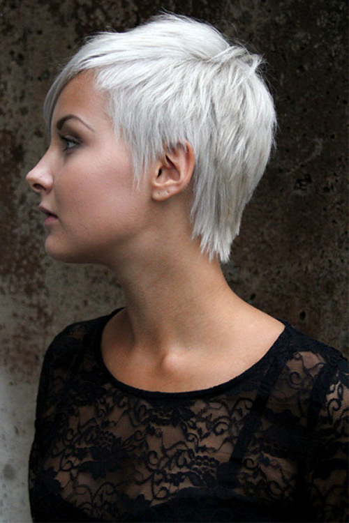 Short, Pixie, Choppy, Platinum Hair | Hairstyles | Hair Photo Throughout Choppy Blonde Pixie Hairstyles With Long Side Bangs (View 25 of 25)