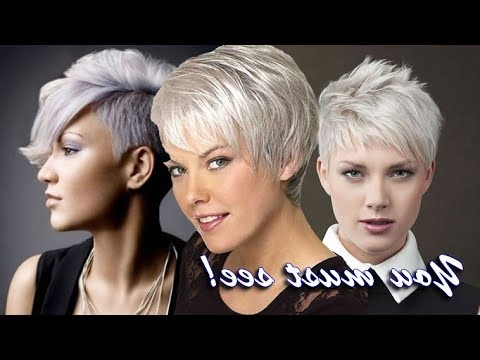 Short Pixie Haircuts For Gray Hair | Latest Hairstyle & Color Ideas With Regard To Messy Salt And Pepper Pixie Hairstyles (View 22 of 25)