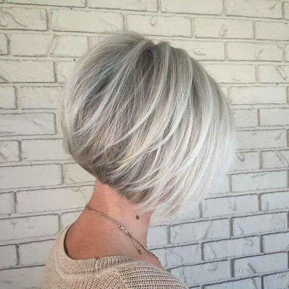Short Silver Hair | 50 Shades Of Silver In 2018 | Pinterest | Hair Intended For Gray Bob Hairstyles With Delicate Layers (View 10 of 25)