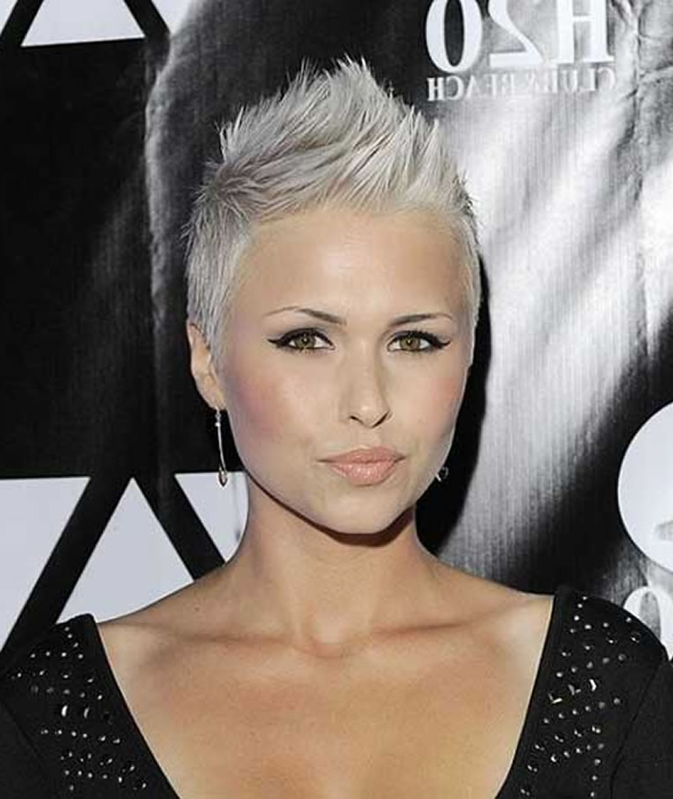 Short Spiky Gray Hairstyles For Women – Hairstyles In Spiky Gray Pixie Haircuts (View 6 of 25)