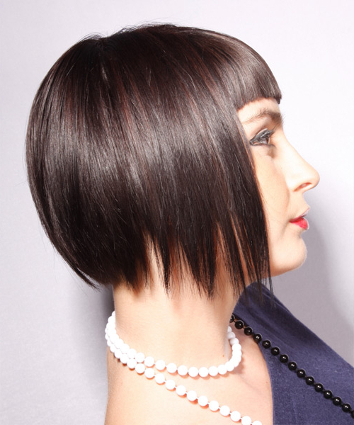 Short Straight Alternative Layered Bob Hairstyle With Blunt Cut With Regard To Chic Chocolate Layers Hairstyles (View 24 of 25)