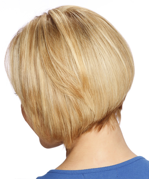 Short Straight Formal Layered Bob Hairstyle With Side Swept Bangs For Honey Blonde Layered Bob Hairstyles With Short Back (View 14 of 25)