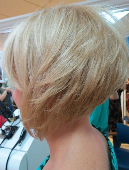 Side View Of Graduated Bob – Cute Layered Platinum Blonde Short Intended For Layered Platinum Bob Hairstyles (View 7 of 25)